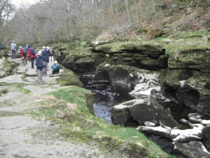 The Strid with low flow